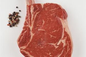 A thick, well-marbled bone-in ribeye only needs salt and pepper.