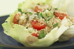 Cracked wheat is high in fiber, low in fat and contains protein and iron.