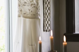 Adding Sparkles to a Wedding Dress
