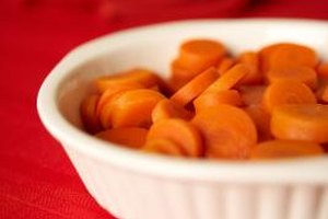 Small carrot slices cook more evenly in the microwave.