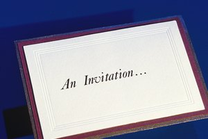 How to Word a Memorial Service Invitation