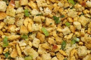 Dress up plain stuffing with a few add-ins.