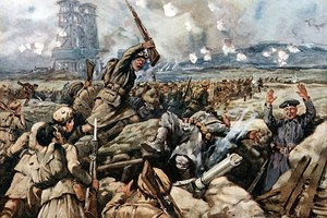 What Caused the War to Reach a Stalemate Along the Western Front in 1914?
