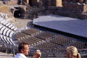 What Type of Scenery Was Used in Ancient Greek Theater?