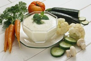 Veggies and dip --- a classic, healthy and convenient finger food.