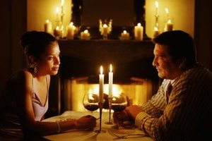 A romantic dinner together can spark things up.