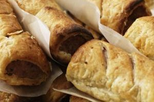 Pastry-wrapped sausages can be a light lunch or an appealing appetizer.