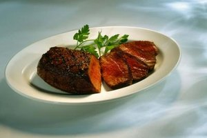 Steaks are often cooked medium to medium-rare to maximize tenderness and juiciness.