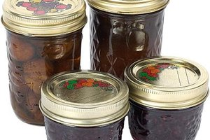 Mason jars with two-piece canning lids