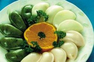 Frozen dumplings are ready fast when steamed in a rice cooker.