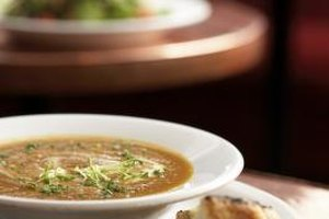 Soup is an ideal meal for large groups.