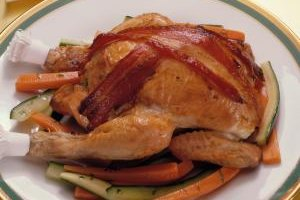 Cornish hens have a light flavor that's a bit stronger tasting than chicken.
