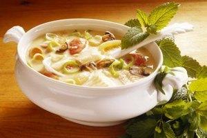 Reheat frozen soup to 165 degrees Fahrenheit.