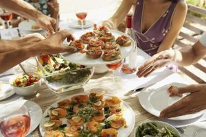 For a bit of light dining, offer a spread of assorted canapés.