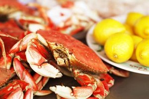 Crab should be kept cool and damp until cooking.
