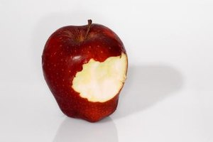 Healthy apples make for a good snack during class.