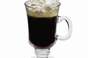 Many after-dinner coffee drinks are topped with whipped cream.