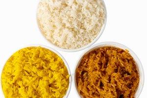 Los carbohidratos del arroz en comparación con los de las papas
