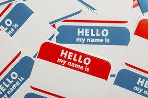 Name Tag Etiquette