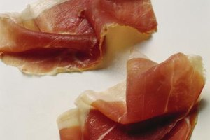Prosciutto is thinly sliced and very flavorful.