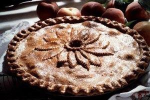 Frozen peaches make a tasty pie when fresh aren't available.