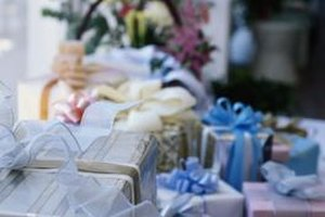 Gift-giving is customary for weddings.