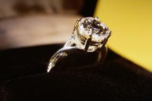 Store diamond rings in a dry area away from sunlight.