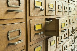 What Are the Parts of a Card Catalog?