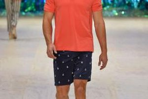 Pair a bright polo with neutral shorts for a stylish and comfortable summer barbecue look.