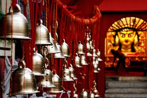 Ringing the Bells in the Hindu Temple
