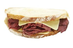 The pastrami sandwich is a favorite among the deli crowd.