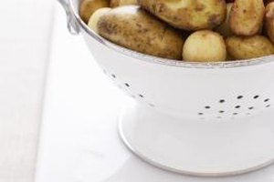 Raw potatoes freeze better when blanched.