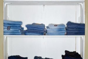 The heat from a dryer is just as effective at removing wrinkles from denim as an iron.