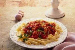 Sturdy penne rigate shines paired with heavy or creamy sauces that include meat.
