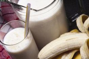 Protein powder can be part of a banana-coconut smoothie.