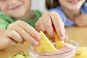 Fruit and yogurt is a combination many kids love.