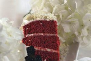 Brown cocoa deepens red velvet cake's color.