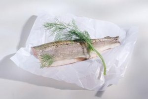 Skin-on fish makes an elegant presentation.