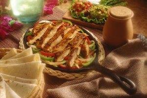 Restaurants serve fajitas on a sizzling, hot cast-iron pan.