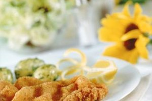 Hard-boiled eggs and lemon slices are common European garnishes for schnitzel.