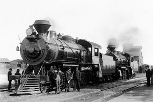 Industry and railroads helped the economy grow in the 1800s.