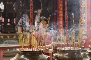 What Is Burned During a Buddhist Funeral?