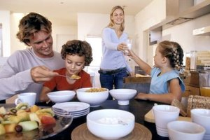 Serve your family breakfasts with both carbohydrates and protein.