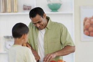 Kids enjoy helping prepare their meals.