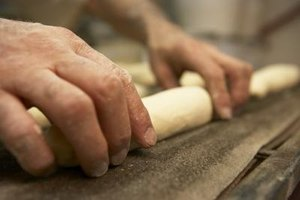 Gluten gives traditional, grain-based dough its elasticity.