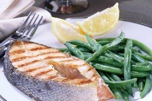 ¿Cuál es el tamaño de una porción de salmón?
