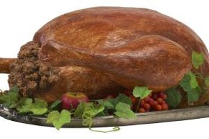 Turkeys brown evenly with crispy skin in a convection oven.