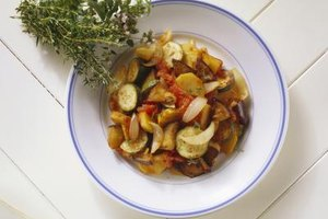 Use browned ground beef to make a low-carb version of ratatouille.