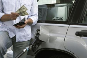 Paying for gas can be anxiety-producing for a frugal person.