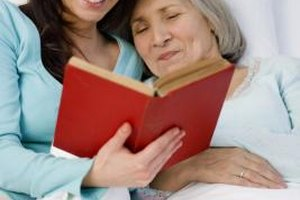 Take time to read and talk to your mother when she is most alert.